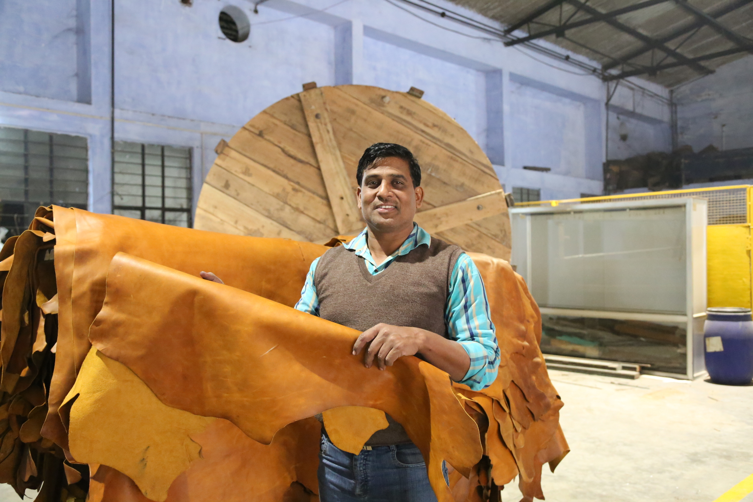 Meet Jagdish, an integral part of our tannery's R&D team.