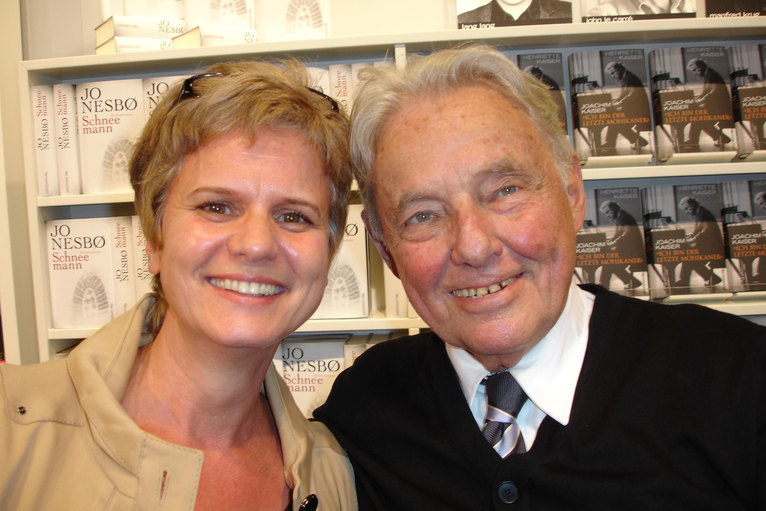 Mit Joachim Kaiser auf der Frankfurter Buchmesse