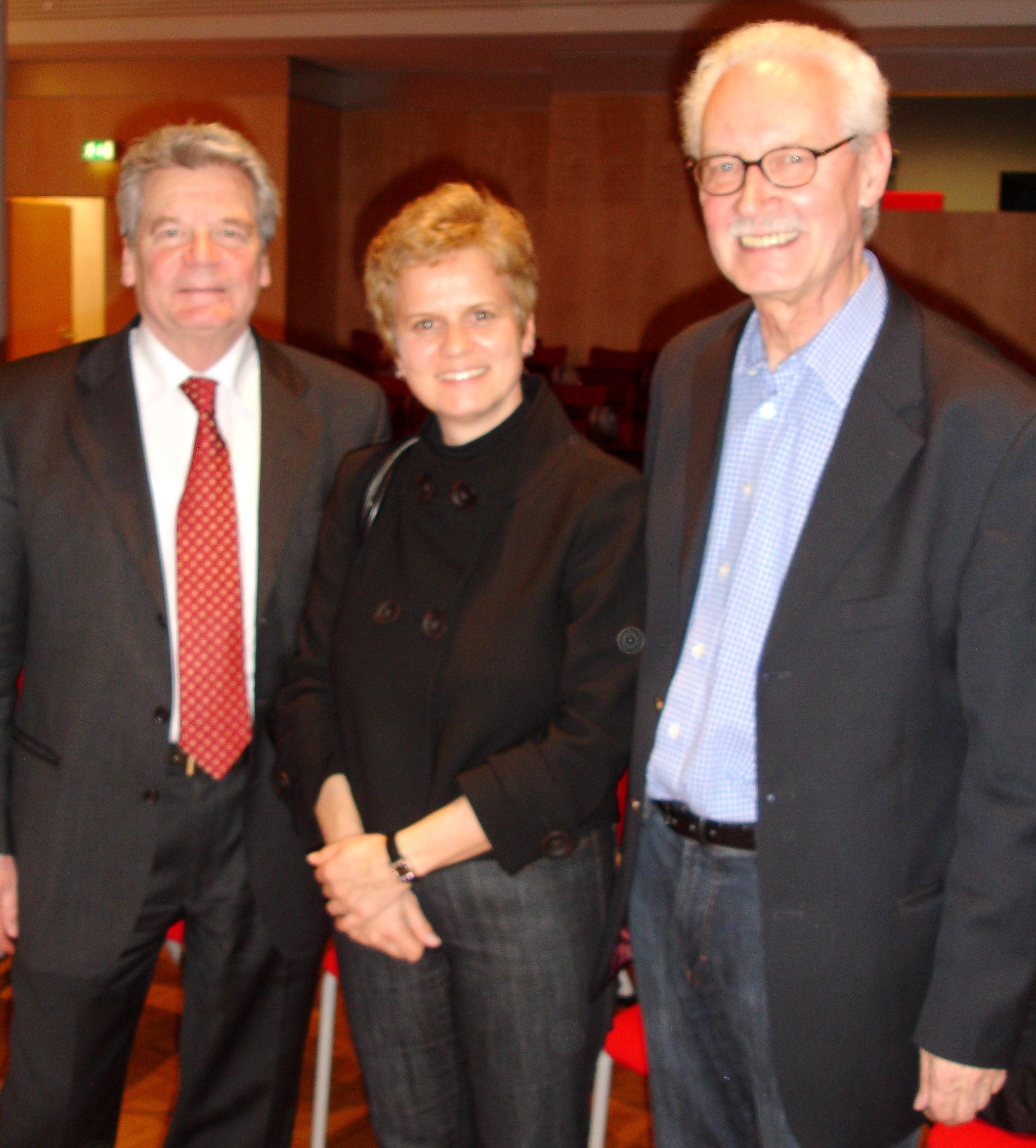 Buchpräsentation bei der Leipziger Buchmesse mit Joachim Gauck und Hermann Vinke
