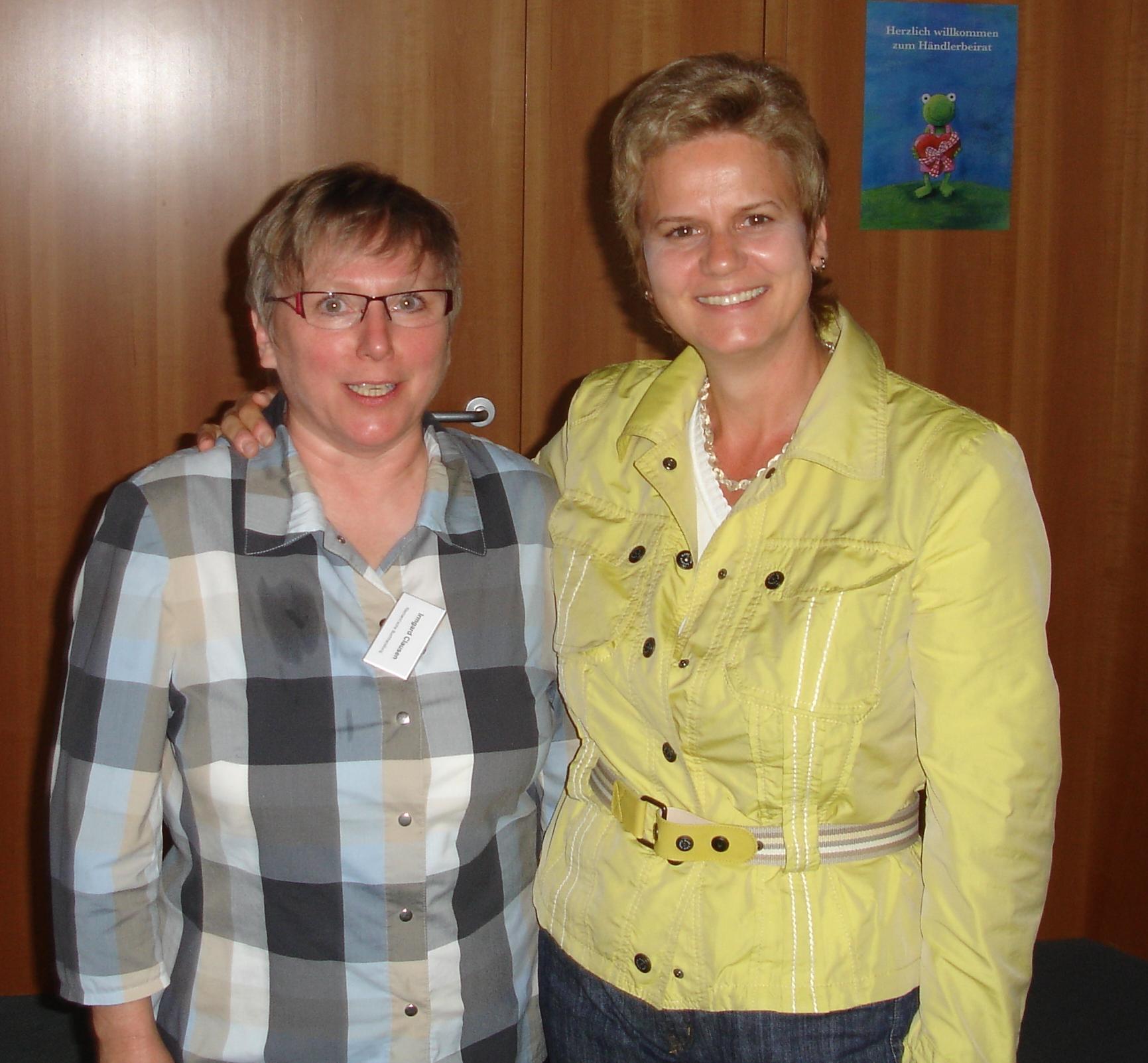 Mit Irmgard Claußen, Buchhandlung Riemann, Coburg