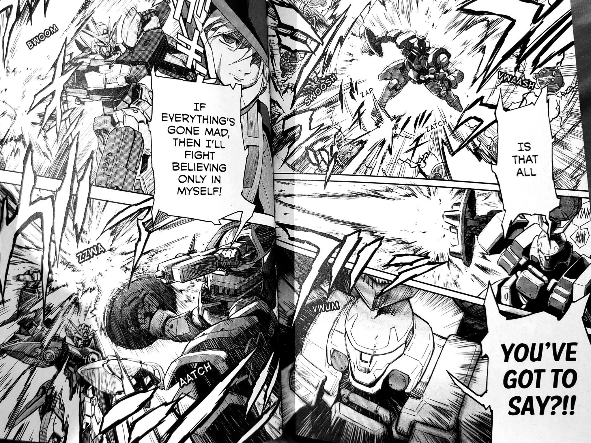 (Katsuyuki Sumizawa and Tomofumi Ogasawara,  Mobile Suit Gundam Wing Endless Waltz: Glory of the Losers vol. 6)