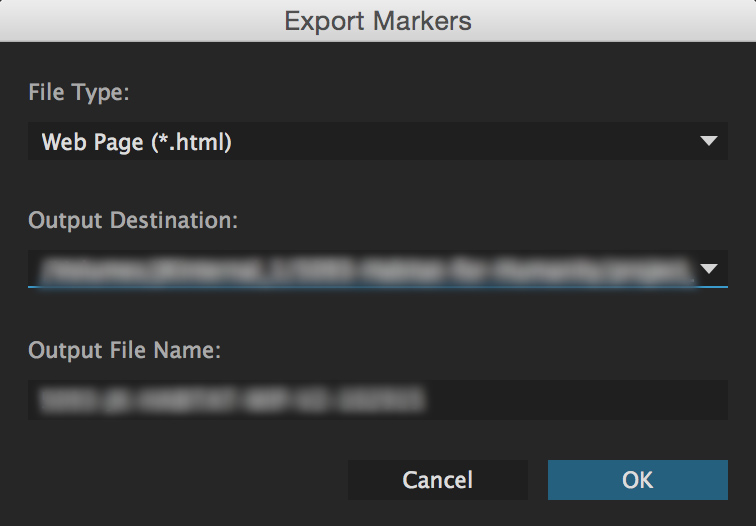 Premiere Pro Export Markers