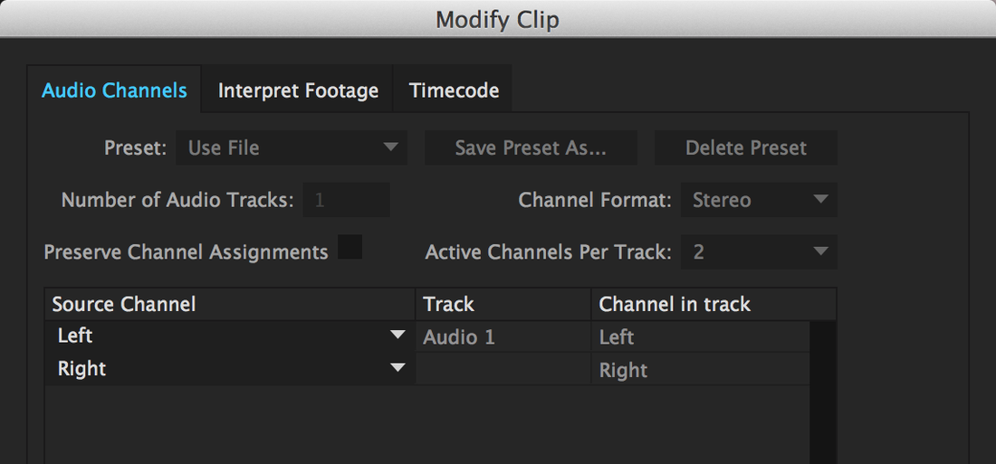 Premiere Pro CC 2014 Audio Channel Mapping