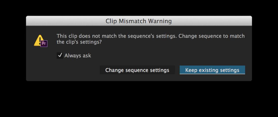"Choose ""Keep existing settings"""