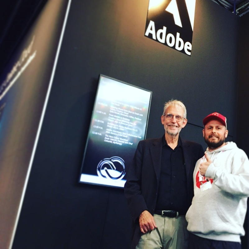 Jimmy Falinski with Walter Murch, IBC 2015, photo credit Thomas Frank
