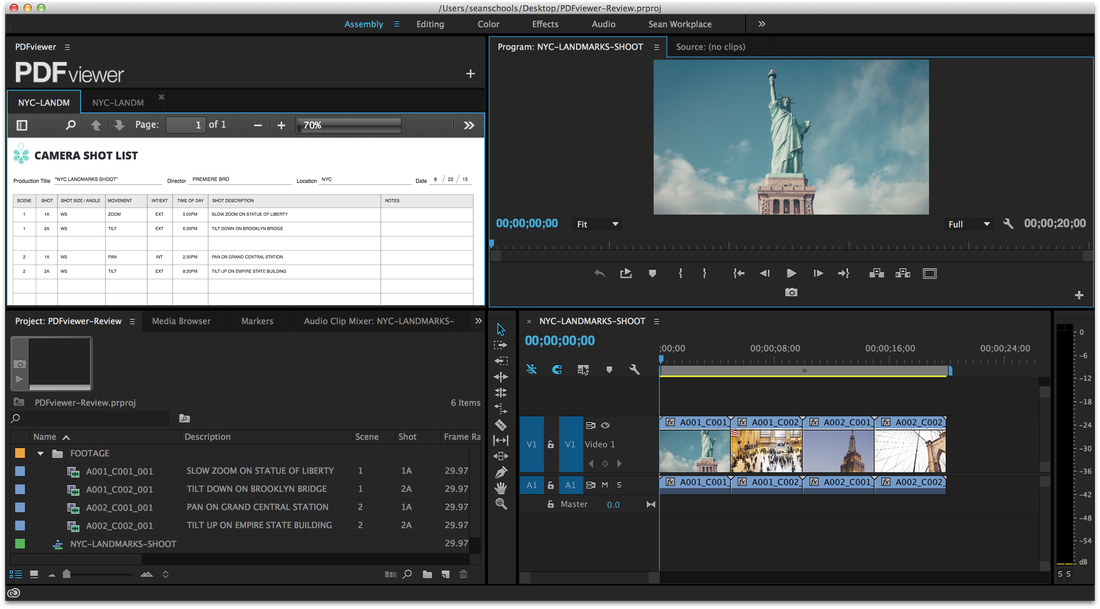 PDFviewer opens PDFs in Premiere Pro