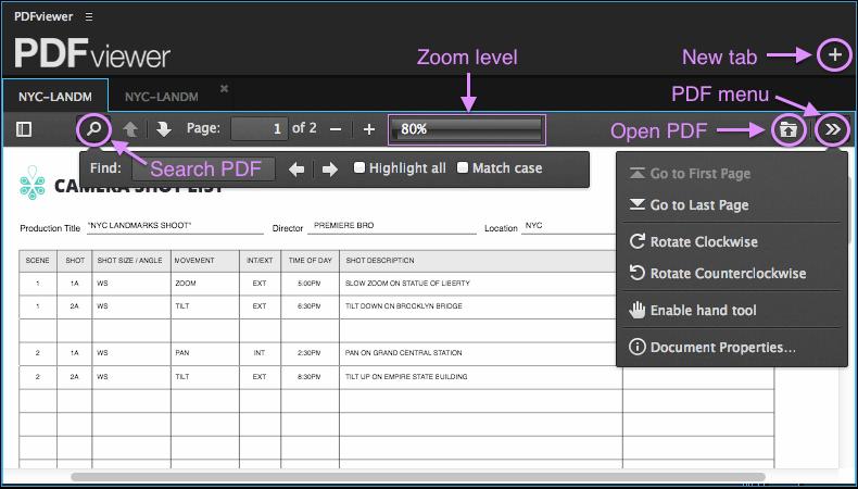 PDFviewer panel
