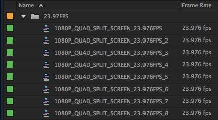 23.976 FPS Templates