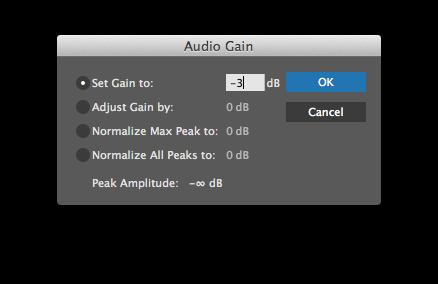 "Select clip and press ""G"" to open Premiere Pro's Audio Gain controls."