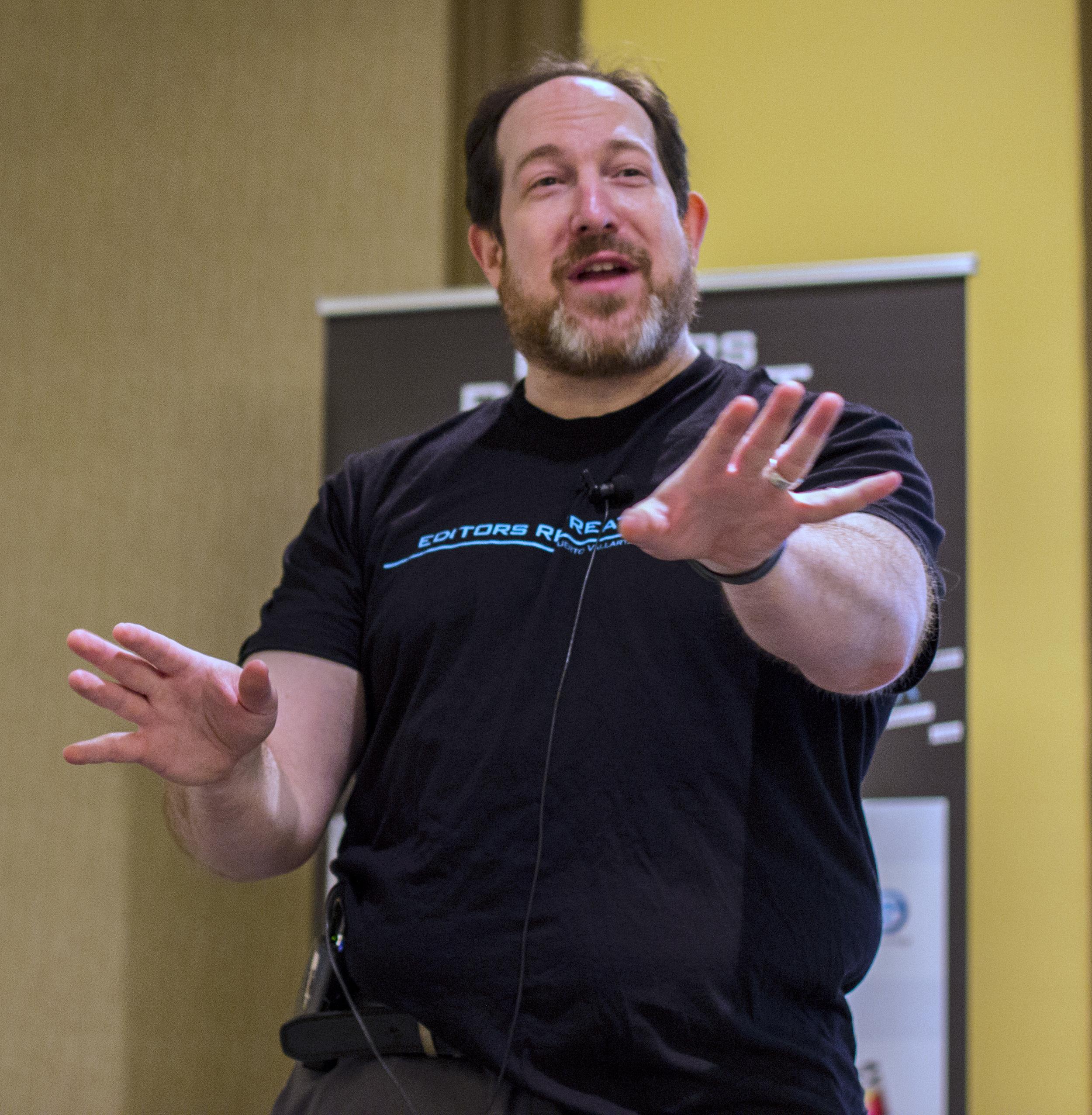 Editors Retreat Master of Ceremonies, Jeff Greenberg