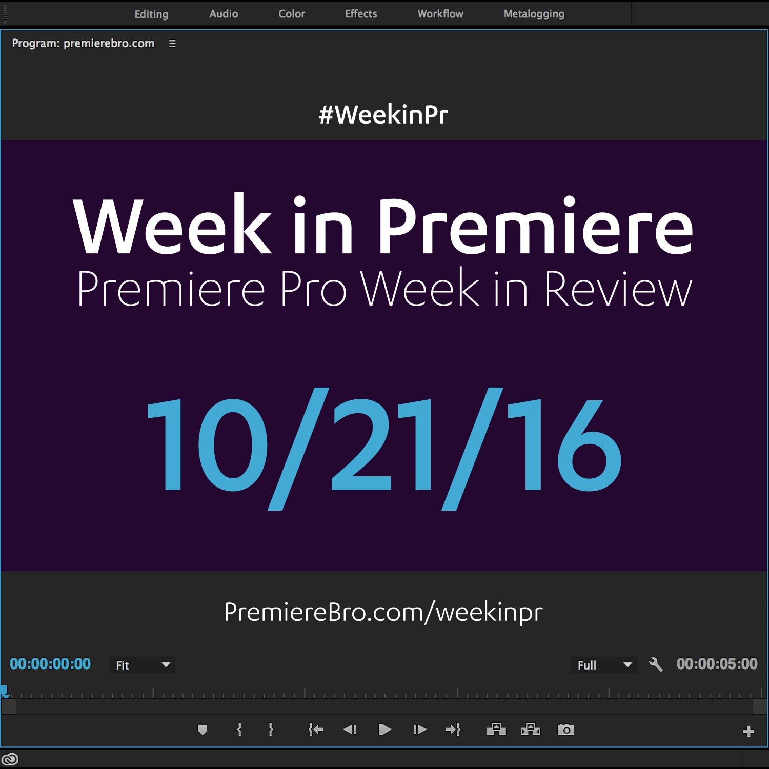 week-in-premiere-pro-102116