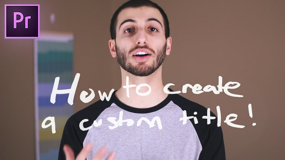 Justin Odisho: How to Create a Handwritten Title Text Effect in