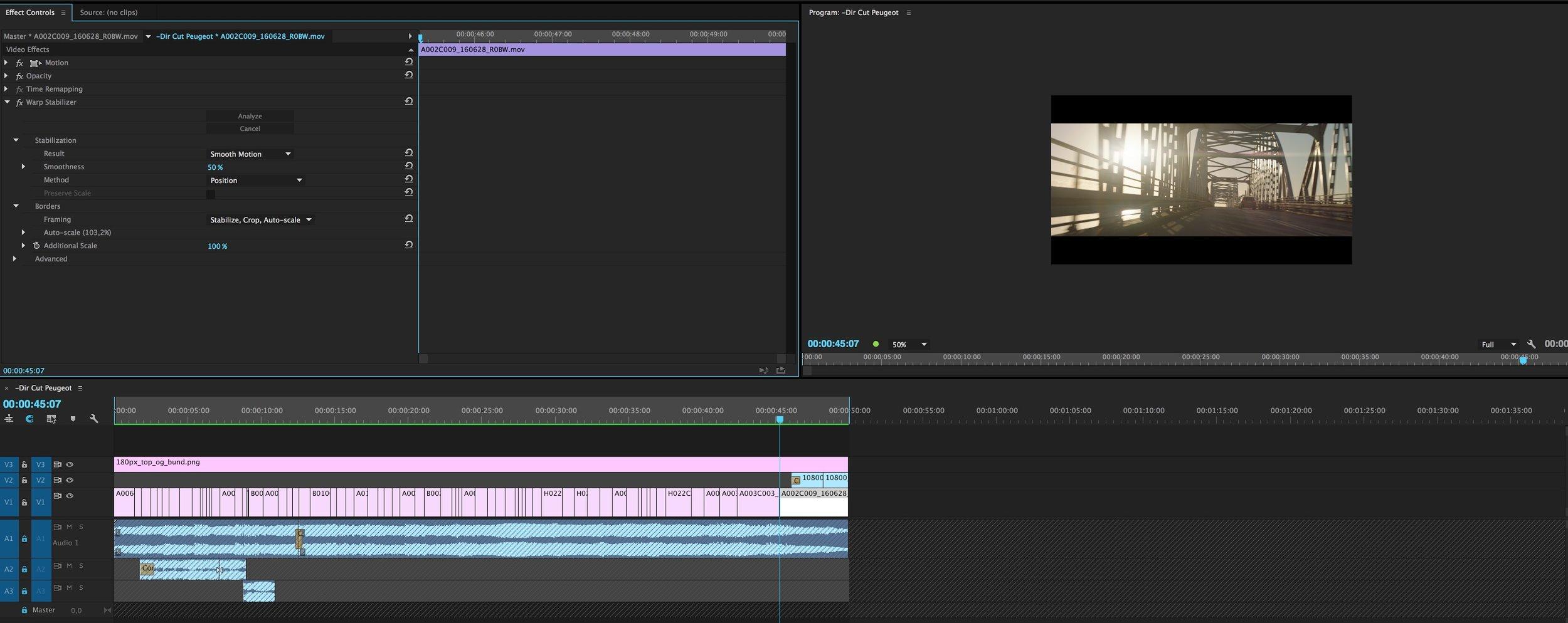 Premiere Pro project