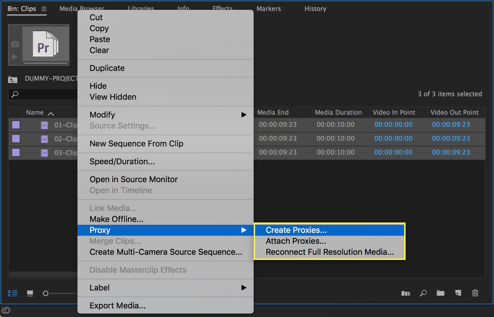 Proxy workflows result in smoother playback