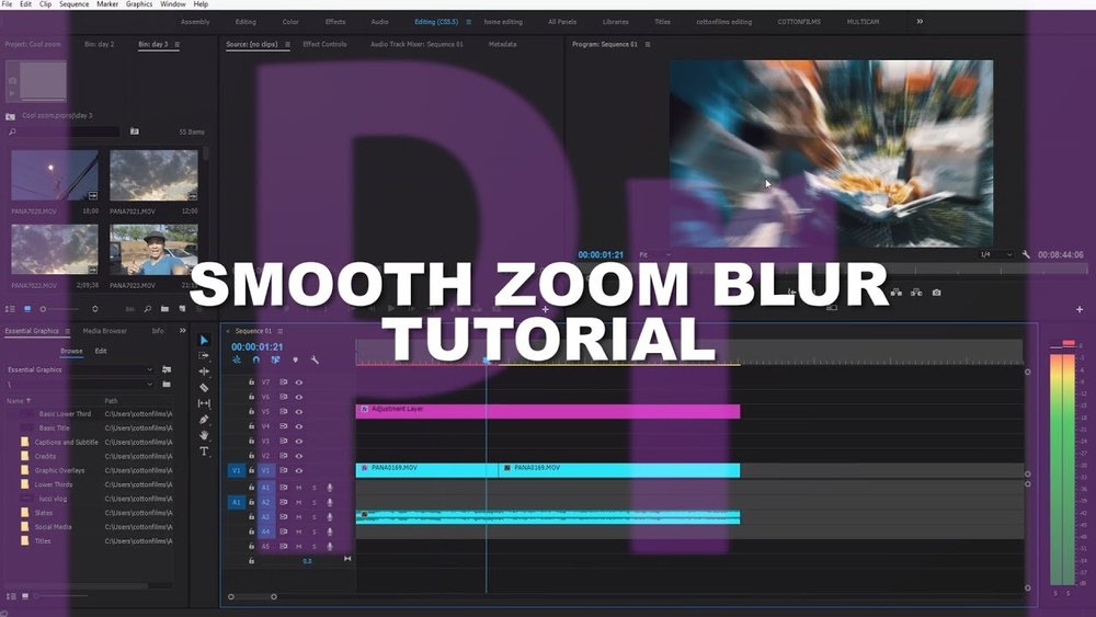 TheyCallMeCotton: Smooth Zoom Video Effect in Adobe Premiere