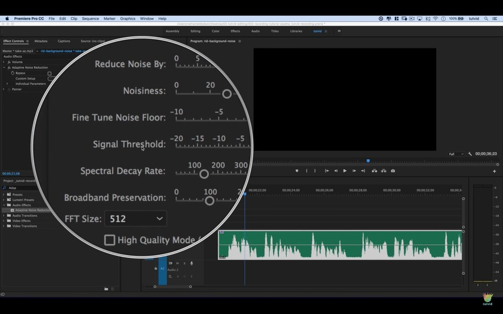 tutvid: How to Remove Background Noise, Buzzing, Hum in Premiere Pro