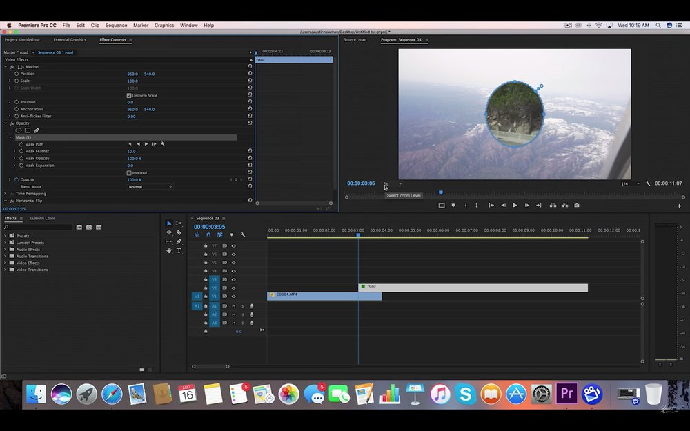 Austin Newman: Easy Circle Transition in Adobe Premiere Pro