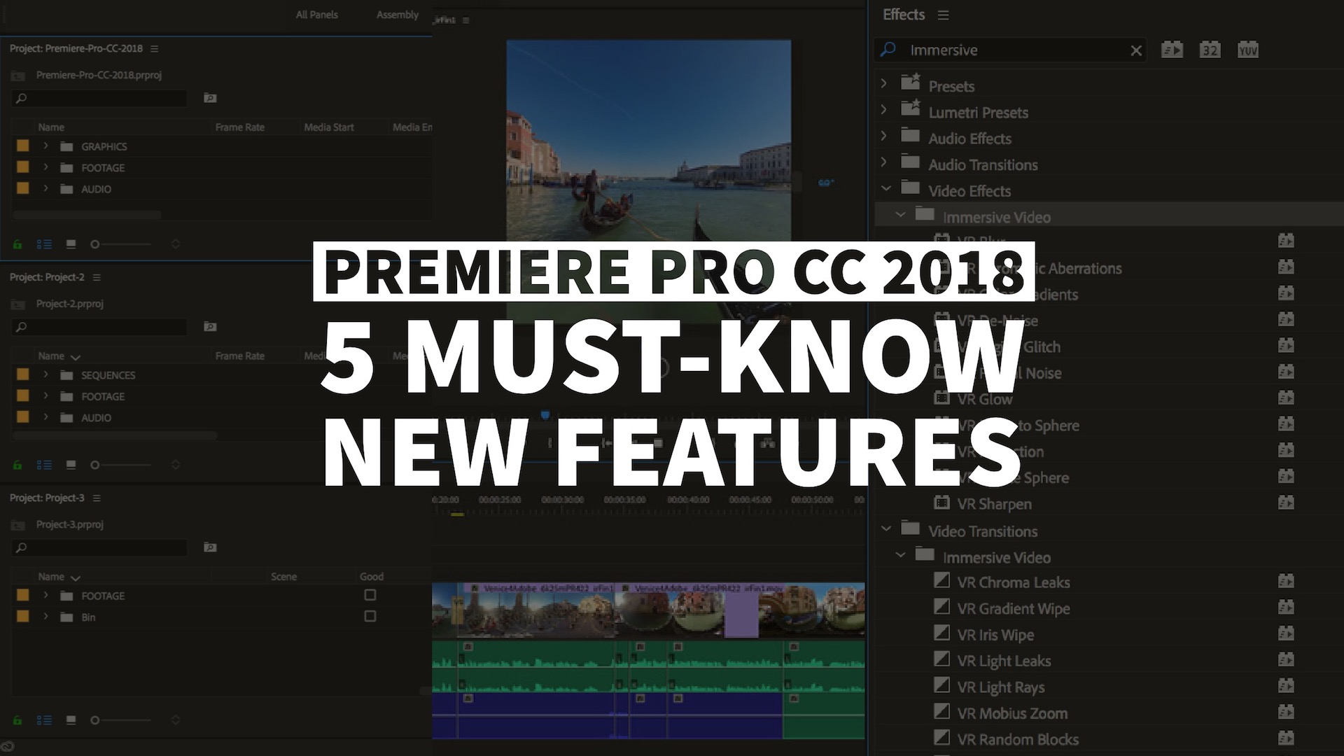 Premiere Pro CC 2018 Preview: 5 Must-Know New Features