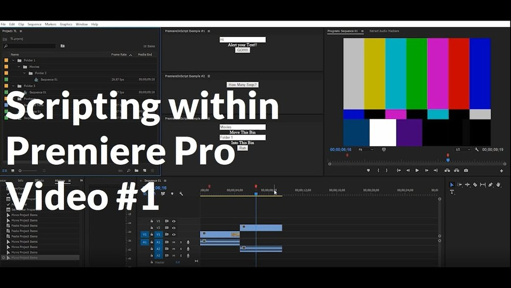 Premiere OnScript: Introduction to Scripting in Premiere Pro
