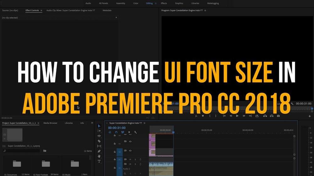 JKdigital: How to Change UI Font Size in Premiere Pro