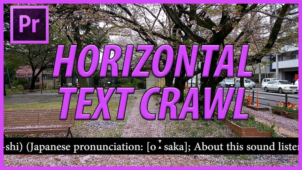 AdobeMasters: How to Create a Horizontal Text Crawl (Ticker) in