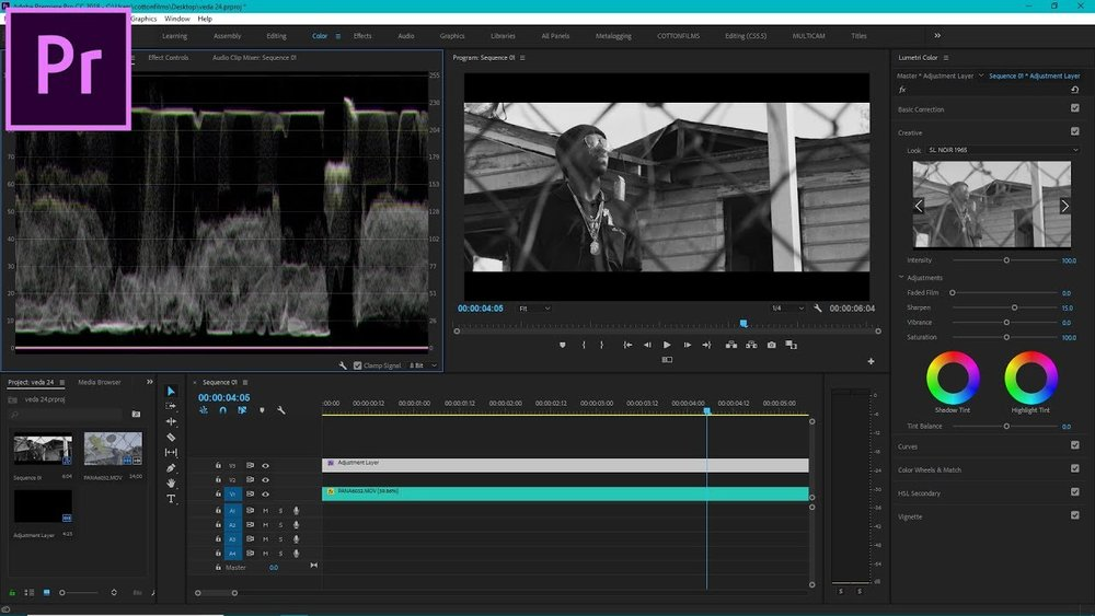 TheyCallMeCotton: Cinematic Black and White Color Grading Tutorial