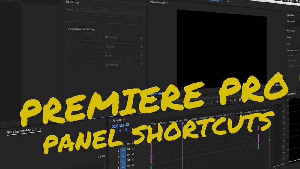 Rocket Pencil Productions: Panel Shortcuts for Adobe Premiere Pro