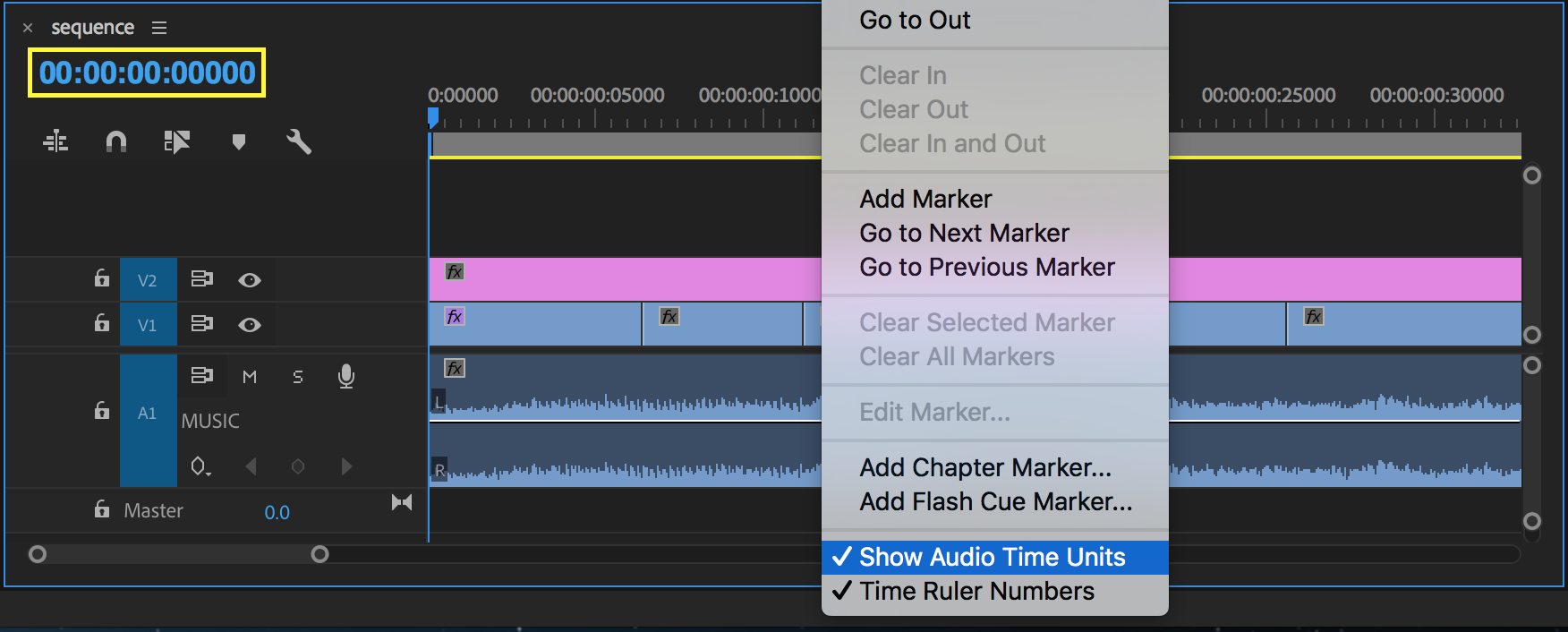 Show Audio Time Units to make sub-frame edits