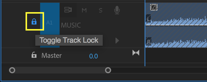 Lock tracks to prevent acciedntal changes