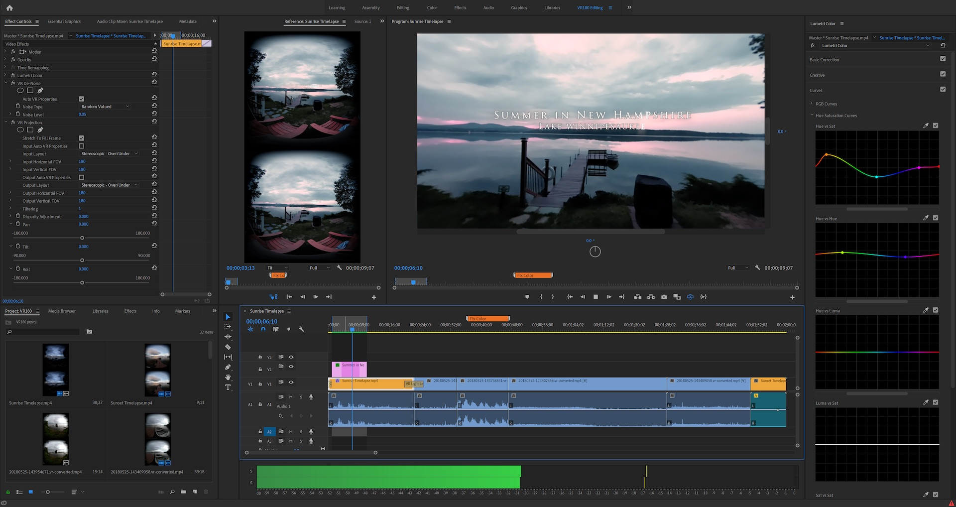 VR 180 makes the jump into immersive storytelling more manageable — and Premiere Pro can help with new support for VR 180, including optimized ingest, editorial, effects, and output in the Google VR180 format for YouTube or other platforms. —Adobe