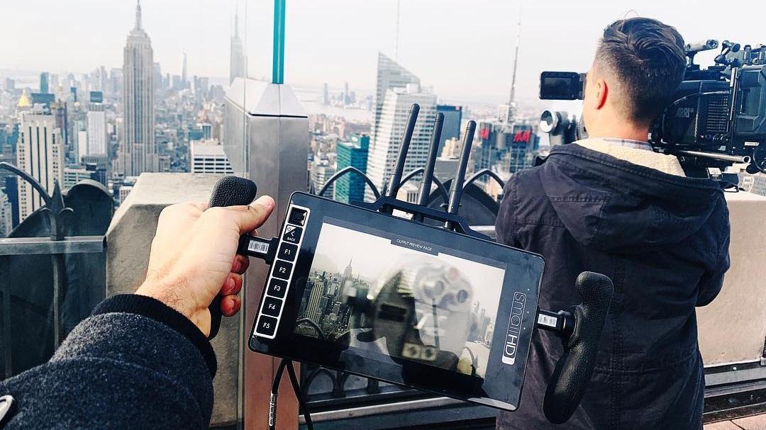 Shooting Top of the Rock, NYC.  Photo via Jeff's Instagram .