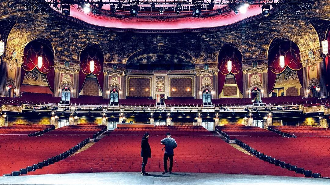 Shooting King's Theater, NYC.  Photo via Jeff's Instagram .