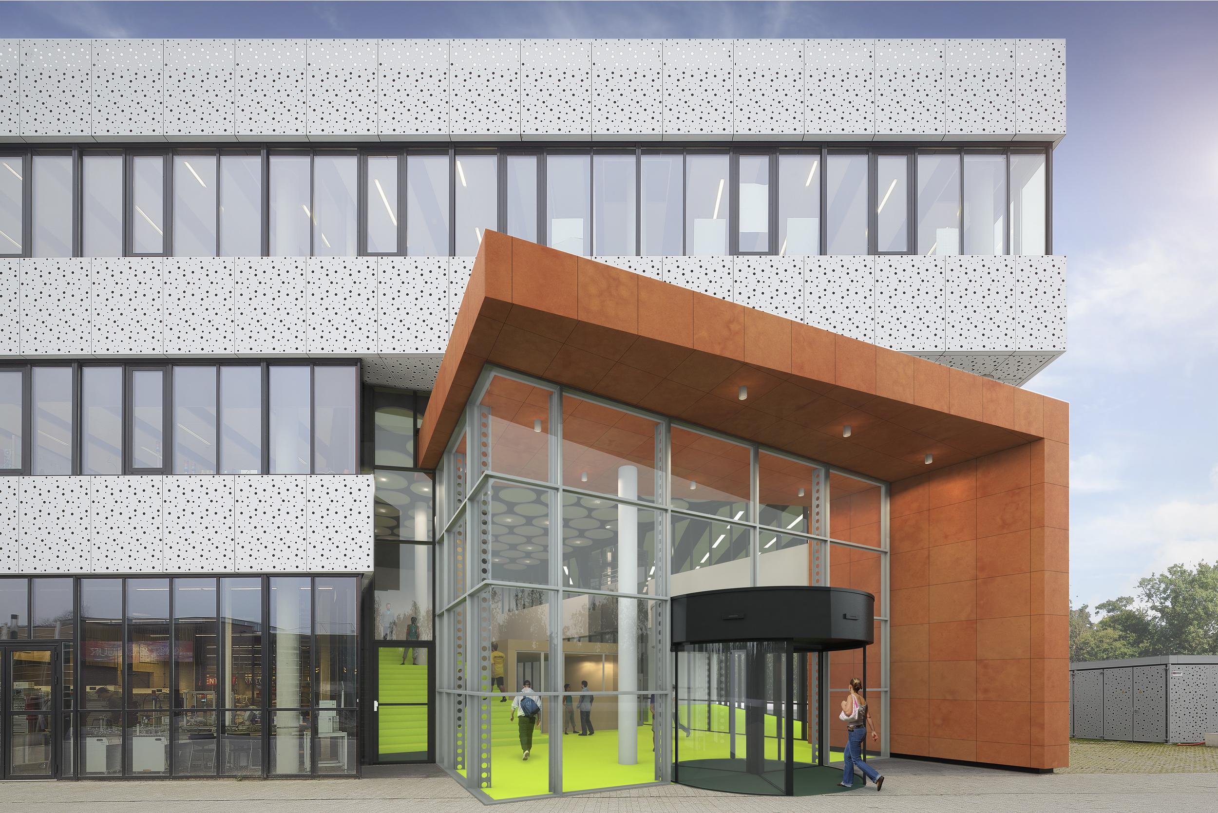 Fotomontage van architectuur, artist impressions oenbare ruimte