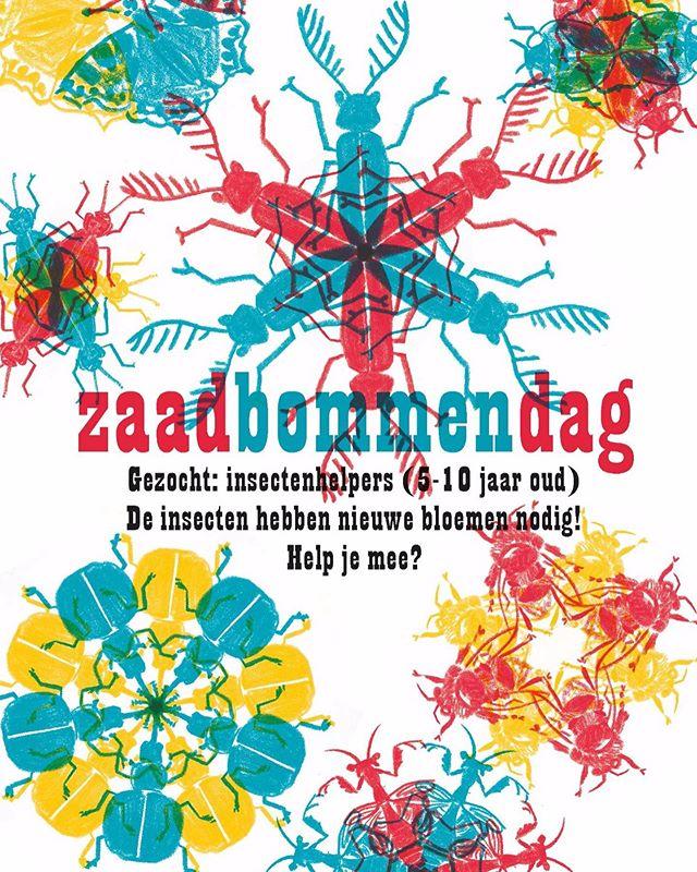 Ik schreef iets over insecten en hoe slecht het met ze gaat voor @oneworldnl. M'n schuldgevoel over m'n eigen mens-zijn probeer ik aanstaande zondag af te kopen met deze workshop, waarmee we kinderen gaan enthousiasmeren voor insecten en ze de stad meteen iets groener laten maken. Dat doen we bij @klaproosamsterdam, waar die dag ook een plantenmarkt van @sprinklr.co en een vintage kilosale is. En bier en wijn en pizza. Met dank aan @the_pollinators voor de zaaddonatie en @burorust voor hetgeen je hierboven ziet.