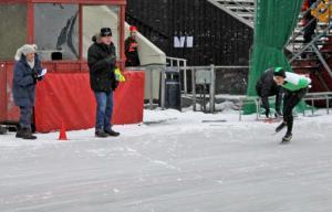Håkon Jorde passerer tidtakerbua. (Foto: PO Linnestad)