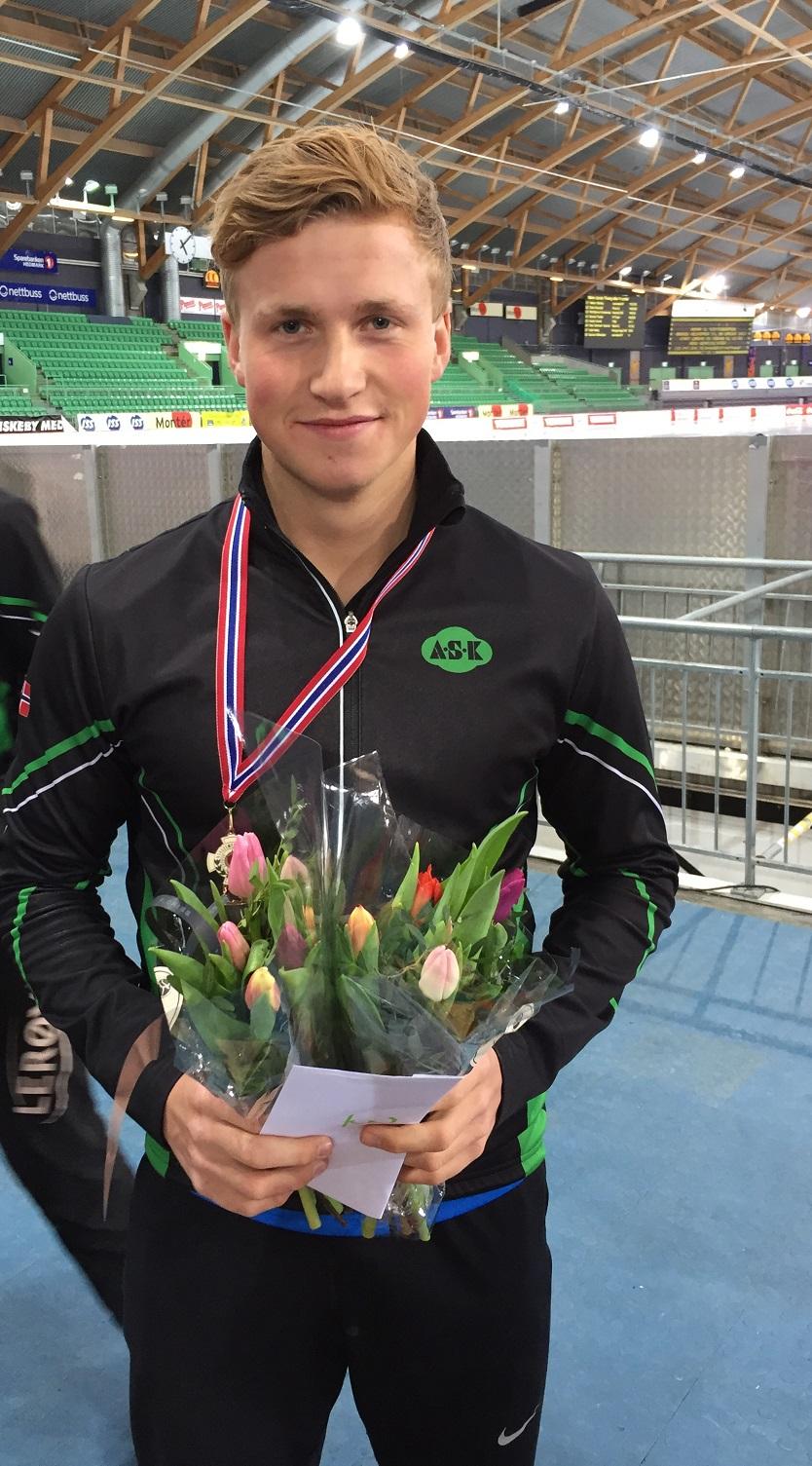 Marius med bronse i juniorklassen.