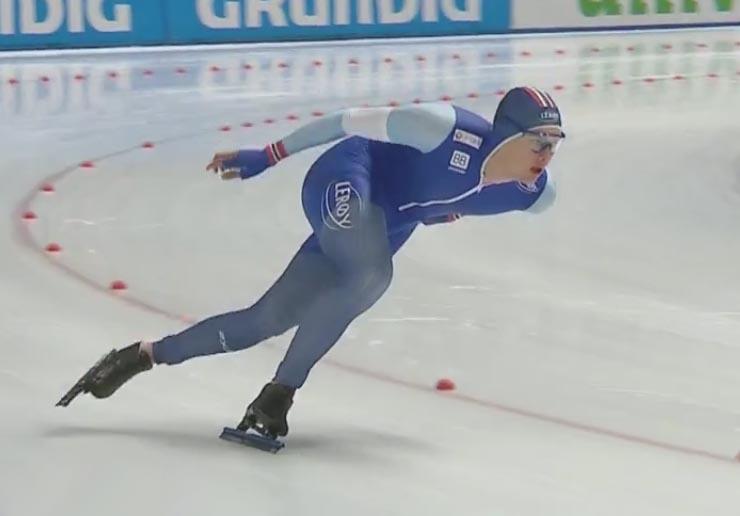 Allan i fantastisk driv (bilde fra NRK TV)