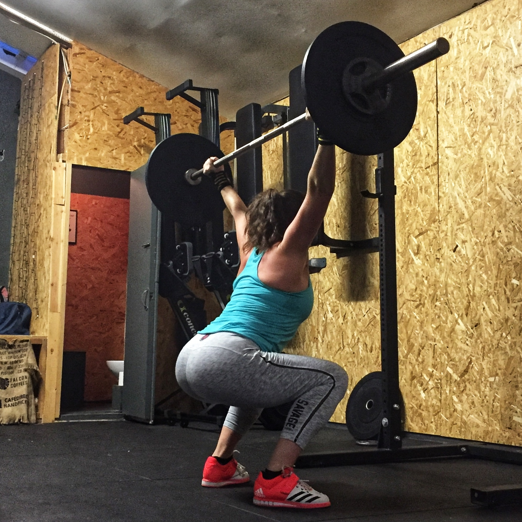 An Overhead Squat. One of the many challenging movements I never imagined I could do.