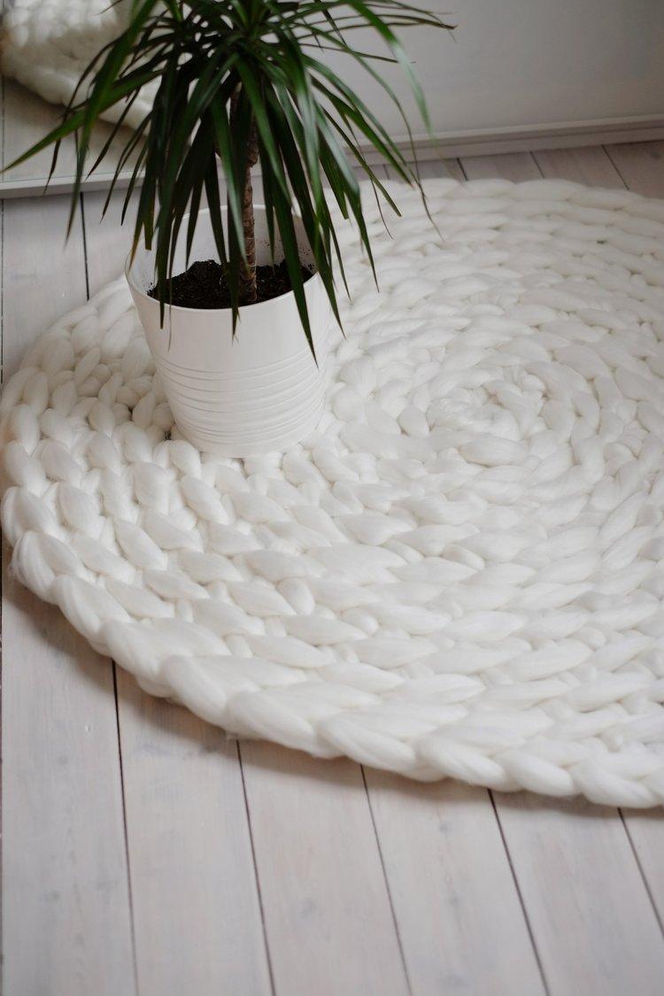 Crochet A Rug Wirh Giant Yarn Mammoth