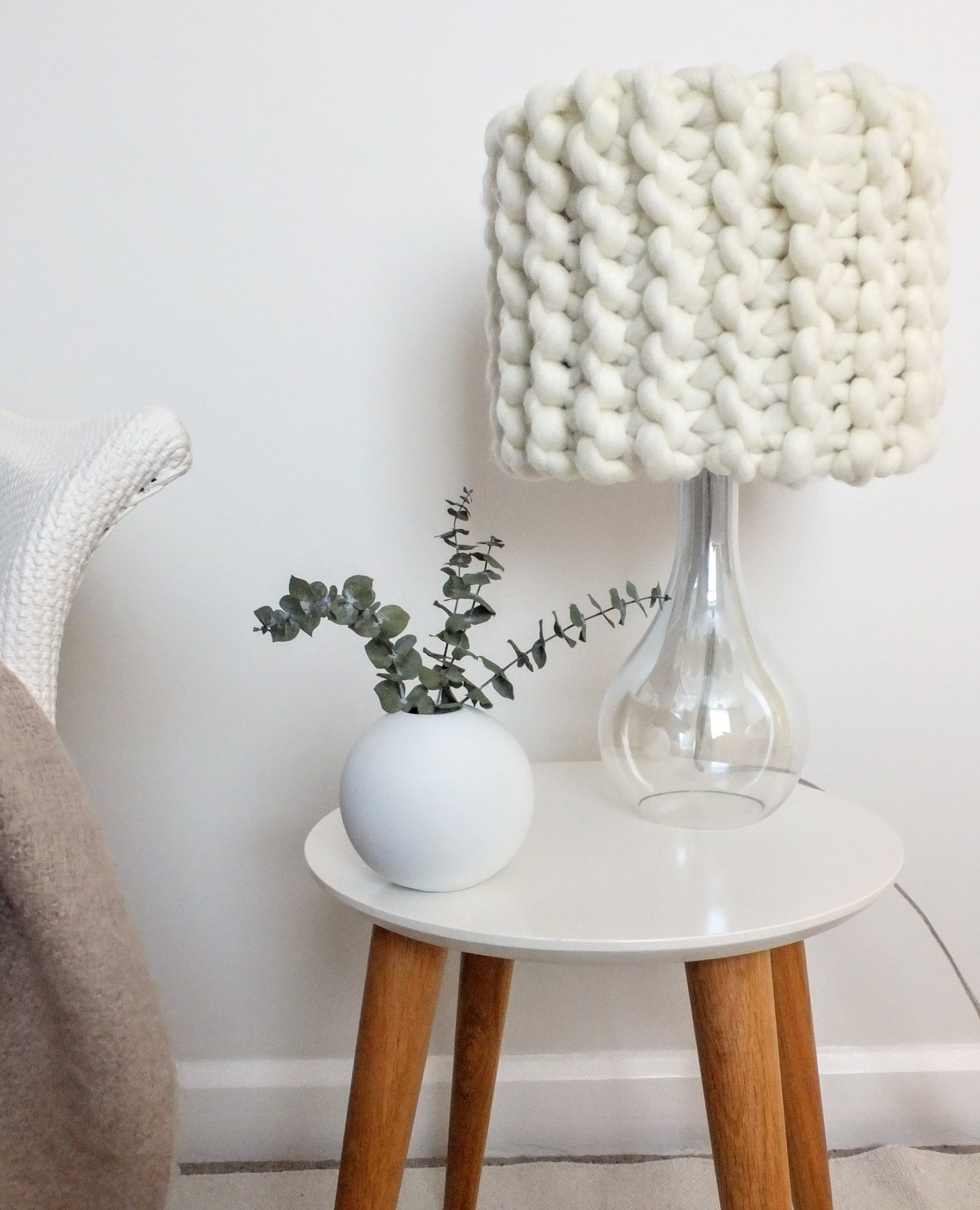 CREAM LAMP SHADE crochet kit