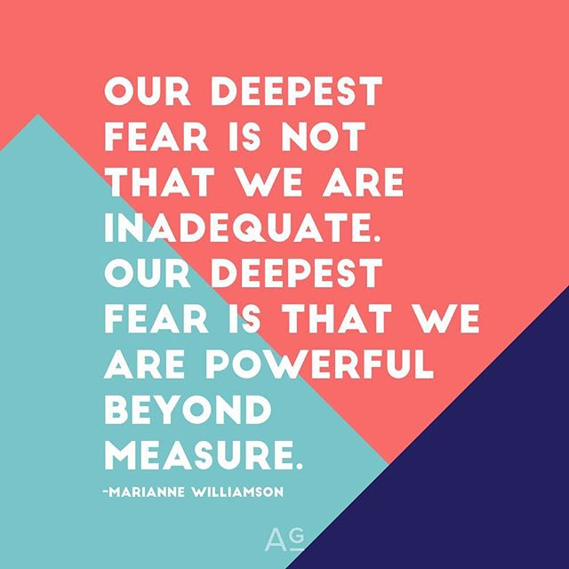 """Our deepest fear is not that we are inadequate. Our deepest fear is that we are powerful beyond measure. -#mariannewilliamson #realtalk #power #entrepreneurlife #entrepreneurmindset #believe #trusttheprocess"