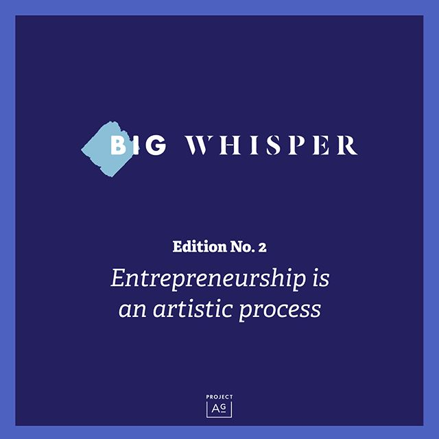"Scroll for a preview of what we featured in our our second edition of our weekly newsletter, @thebigwhisper. This edition focused on how entrepreneurship is an artistic process. Read the overview below and read the full issue at project-ag.co/thebigwhisper // 1. Entrepreneurship is a rollercoaster of a process--an image we designed based on @derekhalpern's original framework  2. We interviewed @Junejanean, founder of the El Paso, Texas-based, fashion-forward eco-conscious bag company, Junes. From considering jumping ship to questioning her instincts, to navigating real-talk investor feedback, Mann opened up about her rollercoaster of an entrepreneurial journey so far.  3. One of our favorite books: Art & Fear. Replace the word art with life or business, any pursuit, really, and the wisdom in here is applicable, especially to entrepreneurship.  4. A framework that we developed here at Project AG called the Business Growth, that visualizes the phases of early-stage business growth and what to focus on at each one of those phases.  5. A vulnerable piece by founder of @salthousenyc, @bysarahashley, on how her father's recent death has influenced her relationship with creativity and her approach to the next phase of building her company.  6. An article by artist @austinkleon, that makes the case for embracing the process, focusing on one small step at a time, and thinking about what you're doing as building an overall body of work.  7. A spotlight on @pocketsproject, founded by former Chief Creative Officer of @DearKates, @JulieSygiel. On average, men's pockets are 3"" deeper than women's pockets, if we even get them at all. The Pockets Project aims to design a line of dresses with deep pockets that can hold all our essentials. Get involved--get the survey link in our issue on project-ag.co/thebigwhisper and/or head over and visit the @pocketsproject instagram profile  8. A celebration of Junes' feature last week in @BonAppetitmag 's @Healthy_ish.  9. ""The whole point of life is to be part of the mess"" @ruth.lera quotable.  For more details and linkage check out the full issue, posted up at project-ag.co/thebigwhisper. You can also sign up for our newsletter ther"