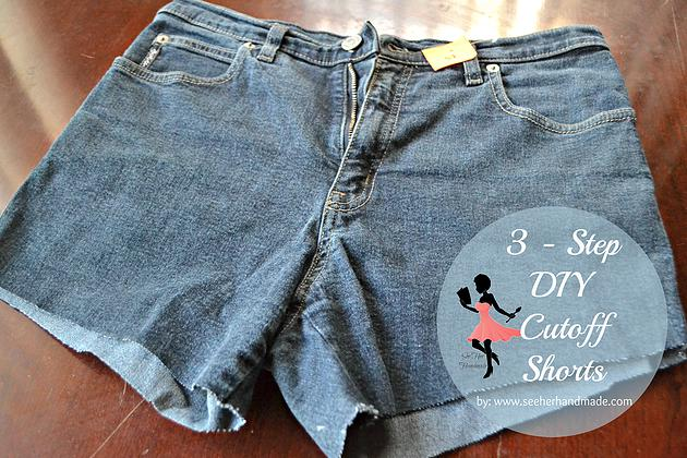 So if you've ever wanted cut-off shorts and didn't quite know how to cut them, I've got three easy steps for how to turn your unwanted jeans into something trendy and cute. (And just in time for Spring season too)!