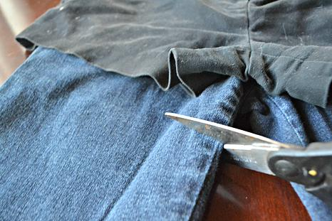 4.    Wash your jeans if you want the frayed look at the hemline and you've got your own pair of cut-off jean shorts!