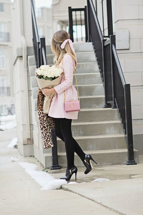 4. Going for girly? Coat dresses are adorably chic and perfect for staying warm!
