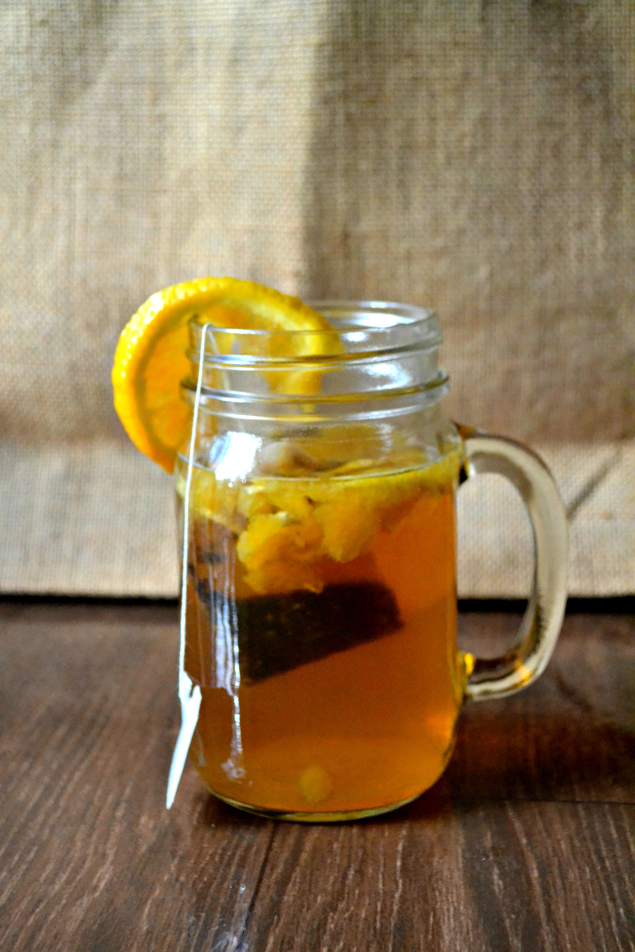 Honey & Orange Pumpkin Spice Sweet Tea  -   This can be enjoyed hot or cold, but if you're not feeling well, hot is the best way to go, and cold is great for just wanting sweet tea.