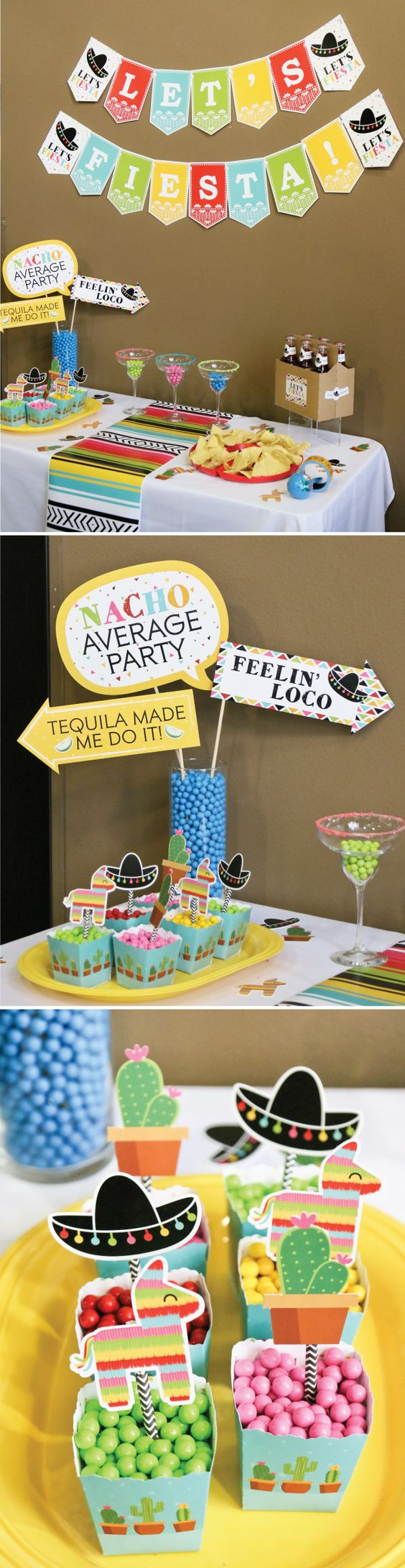 Style a fun  Mexican fiesta for Cinco de Mayo  and all of your friends will come ready to celebrate! Personalized party supplies are an easy way to make your event memorable - then add a fun photo booth and everyone will leave with photos to share.