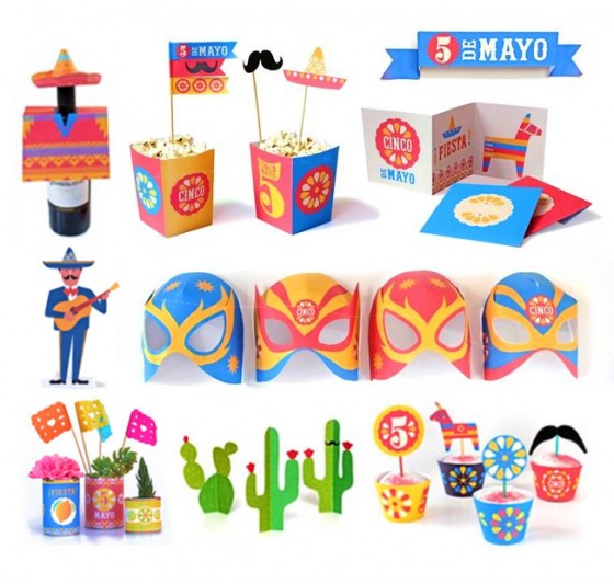 Celebrating Cinco de Mayo this year? Need easy to make party decorations and activities for your fiesta? Then this  Cinco de Mayo printable pack  is perfect for you!
