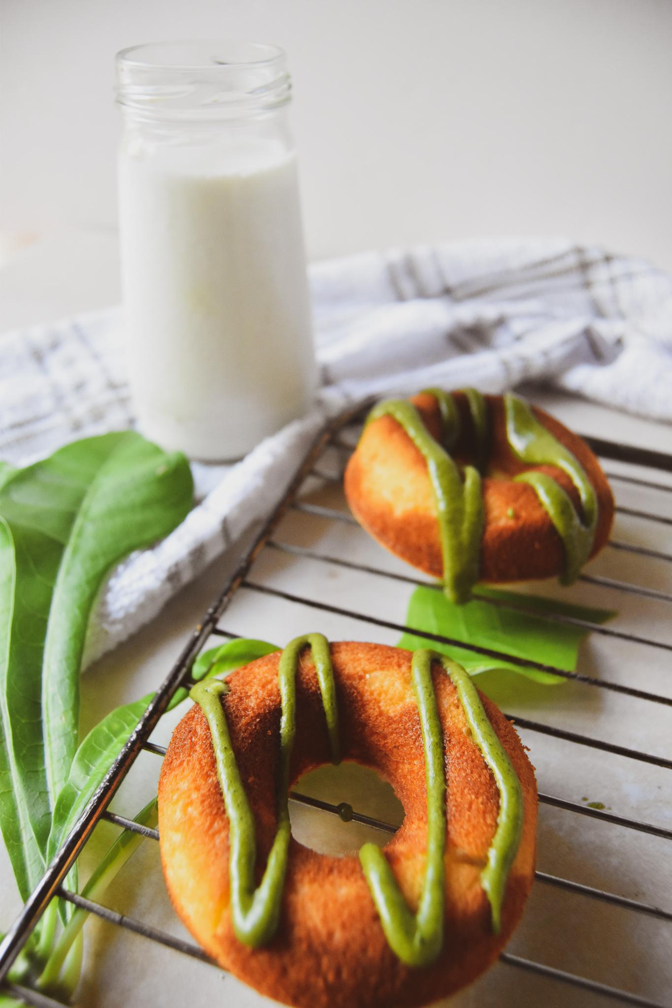 Mint Leaf Doughnuts Matcha Frosting.jpg