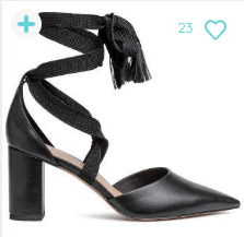 H&M Court Shoes with Ties